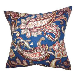 The Pillow Collection - Galila Navy Blue 18 x 18 Floral Throw Pillow - - Pillows have hidden zippers for easy removal and cleaning  - Reversible pillow with same fabric on both sides  - Comes standard with a 5/95 feather blend pillow insert  - All four sides have a clean knife-edge finish  - Pillow insert is 19 x 19 to ensure a tight and generous fit  - Cover and insert made in the USA  - Spot clean and Dry cleaning recommended  - Fill Material: 5/95 down feather blend The Pillow Collection - P18-D-LUCY-NAVY-C55L45