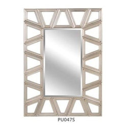 "Lofty - Ardant Diamond Slv Mirror27x47 - Lofty Ardant PU047S Diamond Silver Framed Mirror  PU Mirror Frame  4mm thickness  1"" Bevelled Silver Mirror  Metal Hangers  MDF Backboard  Includes: Hangers  Screw Bag  Wire. Dimensions: 26.9"" x 47.4"" x 1.2""   Bold  vibrant designs make Ardant mirrors the perfect combination of beauty and functionality. Top-tier styling and beautiful attention to detail make these mirrors eye-catching additions in your home. Modern  playful design and quality craftsmanship combine to create contemporary flair for any room.  This item cannot be shipped to APO/FPO addresses. Please accept our apologies."
