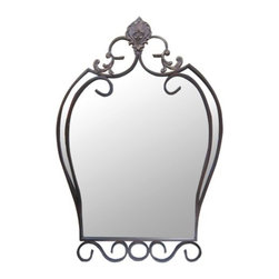 yOSEMITE HOME DECOR - Decorative Iron Mirror - Decorative Iron Framed Mirror