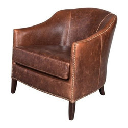 EuroLux Home - Madison Leather Accent Chair Club - Product Details