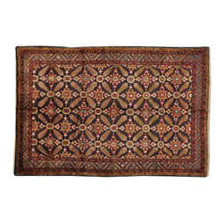 1800-Get-A-Rug - Oriental Rug Persian Hamadan Full Pile Navy Mint Cond Hand Knotted Sh18782 - Our Tribal & Geometric hand knotted rug collection, consists of classic rugs woven with geometric patterns based on traditional tribal motifs. You will find Kazak rugs and flat-woven Kilims with centuries-old classic Turkish, Persian, Caucasian and Armenian patterns. The collection also includes the antique, finely-woven Serapi Heriz, the Mamluk Afghan, and the traditional village Persian rug.