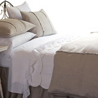 Taylor Linens - Hampton Natural Queen Duvet - With understated details such as delicate stitching and mother-of-pearl buttons, this 100 percent linen duvet cover suits your impeccable classic style.