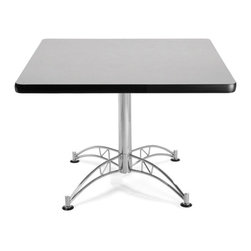 OFM - OFM 36 Square Multi-Purpose Table, Gray Nebula - This 36 square table looks elegant in both lunch and meeting rooms and looks great with the model 310 stack chairs. The banding makes the edges smooth and gives it a finished appearance. The honeycomb core makes the table both lightweight and sturdy.