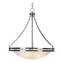 AF LIGHTING - Contemporary Lighting Collection, Chandelier, Brushed Nickel - The sleek, neoteric style of this brushed nickel chandelier adds a touch of modernism to any room.