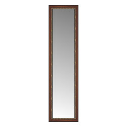 """Posters 2 Prints, LLC - 22"""" x 80"""" Malabar Walnut Custom Framed Mirror - 22"""" x 80"""" Custom Framed Mirror made by Posters 2 Prints. Standard glass with unrivaled selection of crafted mirror frames.  Protected with category II safety backing to keep glass fragments together should the mirror be accidentally broken.  Safe arrival guaranteed.  Made in the United States of America"""