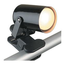 Lite Source - Lite Source LS-119BLK Mini Spot 1 Light Desk Lamps in Black - Clip-On Lite, Black, 25W/R14 Type