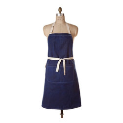 Birdkage - Patriot Waxed Classic Bib Apron - Made in the USA with waxed cotton canvas, this apron is tough enough for any kitchen duty you can dish out. It's plenty roomy for a He-Man chef and comes with deep pockets and durable details such as blue jean rivets and cotton ties.