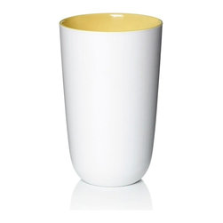 Pantone - Pantone Cup, Sunshine - Start your day with a style with our Pantone universe cups in sunshine. This lightweight 13.5 fluid ounce capacity melamine cup features a light matte whipped-cream white outside and a colorful inside they have a porcelain-like feel.