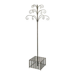iMax - Garden Stake and Wind Chime Display - Great for any garden display, this metal piece easily holds your collection of garden stakes and wind chimes in an easy to shop, central location. Can also be used for a variety of items, think umbrellas and hats, walking sticks and canes, the list goes on.