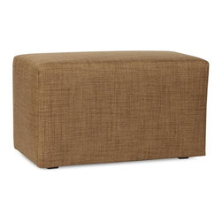 Howard Elliott - Coco Topaz Universal Bench Cover - Lounge in style on Coco benches. The simple design makes these Benches great to use as side tables, ottomans, alternate seating and more. Velcro fasteners and tailored design make it so you would never know this piece is slipcovered. Cleaning and updating is a breeze, change your look on a whim with new covers!