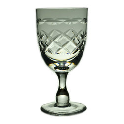 Lavish Shoestring - Consigned 2 Port or Sherry Stem Glasses, Vintage English - This is a vintage one-of-a-kind item.