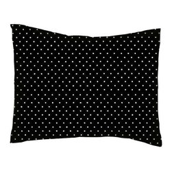 SheetWorld - Pillow Case - Percale Pillow Case - Primary White on Black Pindot Woven - Twin pillow case. Made of an all cotton flannel fabric. Side Opening. Features the one and only Primary white on black pindot woven!