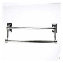 Top Knobs - Top Knobs Stratton Bath 18 Inch Double Towel Rod Satin Nickel - Top Knobs Stratton Bath 18 Inch Double Towel Rod Satin Nickel