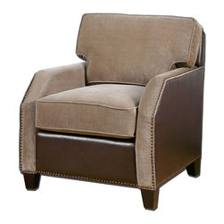 Keturah Armchair - Everyone needs that one go to chair that is your favorite. It does not have to be flashy or eclectic, but it does have to feel great. The Keturah is that chair. Comfortable, inviting and upholstered in soft , dobby chenille in a soothing driftwood shade, this chair is ideal for your den or even master bedroom. Cuddle up to a good book and a hot cup of tea and you envelope yourself in this most homey chair that you will grow to love through the years.