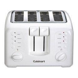 Cuisinart - Cuisinart CPT-140 White 4-slice Cool Touch Toaster (Refurbished) - Toast up to four slices of bread at a time with this Cuisinart toasterToaster features nine setting browning controlsKitchen appliance has touchpad controls for cancel,defrost and bagel