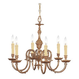 Crystorama - Crystorama Novella 1 Tier Chandelier in Olde Brass - Shown in picture: Ornate Cast Brass Chandelier; The Novella Collection's Olde Brass finish and ornate designs make this European series a perfect fit for any traditionalist.