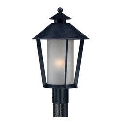 Quoizel - Quoizel AND9012 Anderson 1 Light Outdoor Post Light with Cream Linen Glass - A stunning addition to your outdoor d�cor, this 1 light post light features a delightful cream linen glass cylinder shade.Features: