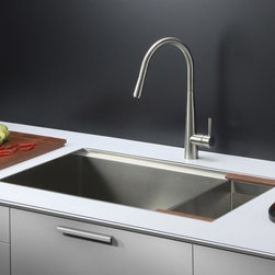 Ruvati - Ruvati RVC2373 Stainless Steel Kitchen Sink and Stainless Steel Faucet Set - Ruvati sink and faucet combos are designed with you in mind. We have packaged one of our premium 16 gauge stainless steel sinks with one of our luxury faucets to give you the perfect combination of form and function.
