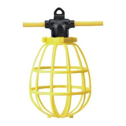 Coleman Cable - 100' SJTW String Light with 10 - 12/3 100' PLS 15A String - Woods- 075498802 - 100 foot 12/3 SJTW String Light with 10 light sockets that use maximum 150 watt A-23 type (standard base) bulbs enclosed with easy open plastic guards. Rated 15 amps and UL compliant.