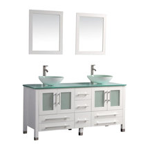 61 quot polished chrome faucet this double sink modern bathroom vanity