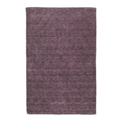 "Kaleen - Kaleen Renaissance Collection 4500-65 5'X7'6"" Aubergine - Renaissance is a truly unique, high fashion monochromatic collection that offers a Tibetan look but at a non-traditional price.  Renaissance is hand loomed in India of only the finest 100% Virgin Seasonal Wool for years of elegant durability."