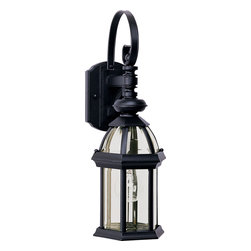 Maxim Lighting - Maxim Lighting 1021BK Builder Cast 1-Light Outdoor Wall Lantern - Maxim Lighting 1021BK Builder Cast 1-Light Outdoor Wall Lantern