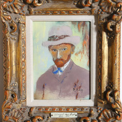 Max Karp, Portrait of Van Gogh, Enamel on Copper - Artist:  Max Karp, American (1916 - )