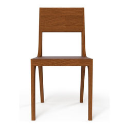 Kalon Studios - Kalon Studio's Bamboo Isometric Chair, Black Walnut - Oiled bamboo