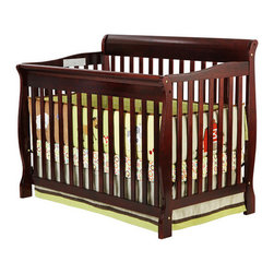 Dream On Me - Ashton Convertible Crib - Dream On Me 4 in 1 Ashton Convertible Crib is a lifetime crib that gracefully matures with your child from infancy, through childhood to adulthood. With its rugged good looks and sturdy a daybed and full size bed (full size bed frame and mattress not included). frame this crib features a stationary (non drop side) rail design which provides the utmost in product safety. For ease in reaching your baby, it sits low to the floor and features the convenience of a 4 position, adjustable mattress support system. Durable yet stylish, this lovely piece of nursery furniture grows with your child transitioning easily into a toddler bed, (model #695 toddler bed rail sold separately) a daybed and full size bed (full size bed frame and mattress not included). Accommodates a Dream on Me standard crib mattress, sold separately. Features: -Solid wood.-Adjustable mattress support system.-Transitions easily into a daybed and full size bed (full size bed frame and mattress not included).-Ashton collection.-Collection: Ashton.-Distressed: No.Dimensions: -44'' H x 54'' W x 34'' D, 49 lbs.-Overall Product Weight: 49 lbs.