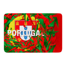"""KESS InHouse - Danny Ivan """"Portugal"""" World Cup Memory Foam Bath Mat (17"""" x 24"""") - These super absorbent bath mats will add comfort and style to your bathroom. These memory foam mats will feel like you are in a spa every time you step out of the shower. Available in two sizes, 17"""" x 24"""" and 24"""" x 36"""", with a .5"""" thickness and non skid backing, these will fit every style of bathroom. Add comfort like never before in front of your vanity, sink, bathtub, shower or even laundry room. Machine wash cold, gentle cycle, tumble dry low or lay flat to dry. Printed on single side."""