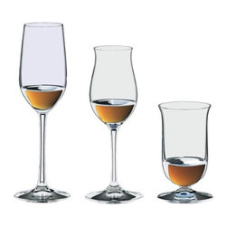 Riedel - Riedel Bar Spirits Tasting Set - Your personal bar scene is bound to become the toast of the town. This set of lead crystal glasses — for tequila, cognac and single malt whiskey — make it easy to host a spirit tasting in style.