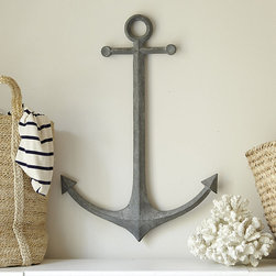 Ballard Designs - Metal Anchor Wall Decor - This hand-crafted metal wall anchor is a great way to add a nautical touch to any room without going overboard — overboard, get it?