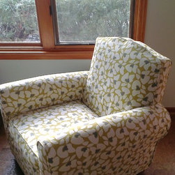 Chair and ottoman -