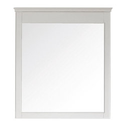 None - Avanity Windsor 24-inch Mirror in White Finish - The Windsor poplar framed mirror features a white finish with simple lines. It matches the Windsor vanities for a coordinated look and includes mounting hardware that makes leveling easy. The mirror can be hanged vertically.