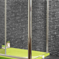 Contemporary Showers Cor limey -  SHower tray in Lime green - bathroom design ideas