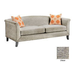 Apt2B - Albright Apt. Size Sofa, Straw - The Albright Collection is super chic. With a smooth back and tapered wooden legs, this sofa is sure to class up your space.