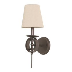 House Of Troy - House of Troy Lake Shore Wall Sconce Mahogany Bronze - House of Troy Lake Shore Wall Sconce Mahogany Bronze X-BM-202SL