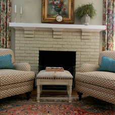 Traditional Family Room by Lisa Britt Designs