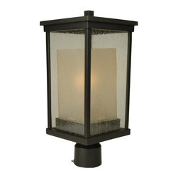 Craftmade - Craftmade Z3725-NRG Riviera 1 Light Energy Star Post Light - Craftmade 1 Light Energy Star Post Light from the Riviera CollectionFeatures: