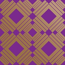 Tempaper - Violet DI051 Diamond Self-Adhesive Wallpaper - Violet DI051 Diamond Self-Adhesive Wallpaper is self-adhesive and has 10.25 inches of pattern repeat. This self-adhesive wallpaper is revolutionary in the home decor industry. It can be easily removed, repositioned or readjusted to match your style. It is the perfect wallpaper for renters, or people who just like to change their home decor often! Liven up any room as frequently as you like with self-adhesive removable wallpaper. Collection name: Tempaper Size of each double roll is 20.5 inches x 33 feet. Each double roll covers about 56.37 square feet / 5.24 square meters. Wallpapers are priced per single roll, but packaged and sold in double rolls only. Please order the number of single rolls that you will need, but you must order in multiples of two (even numbers) only.