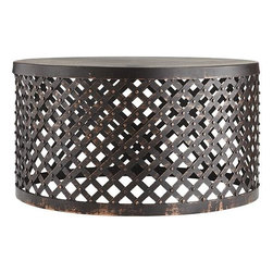 Shiva Lattice Coffee Table - The coffee table is a cozy essential indoors, and the same can be said for outdoors! But why would you settle for any old table when you can pick a statement piece?