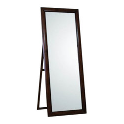 Coaster - Coaster Standing Portrait Style Floor Mirror in Walnut - Coaster - Mirrors - 200647 - This mirror is a simply-styled classically chic bedroom mirror that will fit comfortably with your decor in any room.