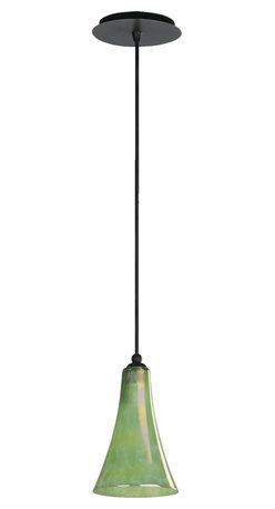 Quorum International - Quorum 866-95 1Lt Green Flute Pendant - Ow - Quorum 866-95 1LT Green Flute Pendant - Ow