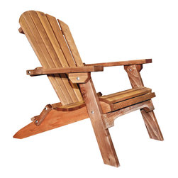 Montana Woodworks - Montana Woodworks Adirondack Chair in Grade Oil Exterior - Perfect for those evenings when you just want to relax on the deck or by the pool and watch the sun go down. The folding western red cedar deck chair by Montana Woodworks will provide you with the comfort and relaxation you deserve. Handcrafted of solid, American grown western red cedar for years of trouble free outdoors use. This folding Adirondack can be used in a variety of settings from the front porch to the pool area or even in the flower bed for a functional piece of decorative art. This Adirondack conveniently folds for easy transportation or storage. 20-year limited warranty included at no additional charge.