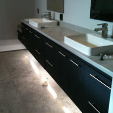 Contemporary Bathroom Vanities And Sink Consoles by Grabince Custom Divisions