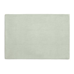 Pale Seafoam Slubby Linen Custom Placemat Set - Is your table looking sad and lonely? Give it a boost with at set of Simple Placemats. Customizable in hundreds of fabrics, you're sure to find the perfect set for daily dining or that fancy shindig. We love it in this incredibly luxurious mediumweight linen with a soft sheen in a pale seafoam green: a color as serene as morning dew on a spring flower.