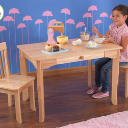 Kidkraft - Avalon Table and Chair Set For Kids in Natural Color - I think this is one of the best table and chair set for your kids. With this Avalon table and chair set you can't go wrong with this in the house. Your kids will really love to sit on this Avalon table and chairs.