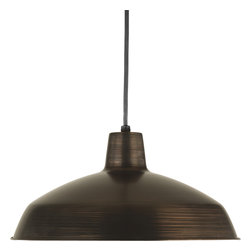 Progress Lighting - Progress Lighting P5094-74 1-Light Pendant Metal Shade - Progress Lighting P5094-74 1-Light Pendant Metal Shade