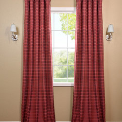 Red Hand Weaved Cotton Curtain - The Hand Weaved Cotton curtains & drapes add a casual and warm look to any window. These drapes are tailored from the finest hand loomed cotton blend