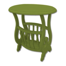 Trade Winds - New Trade Winds Magazine Table Green Painted - Product Details